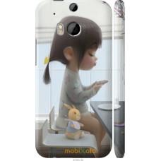 Чехол на HTC One M8 dual sim Милая девочка с зайчиком