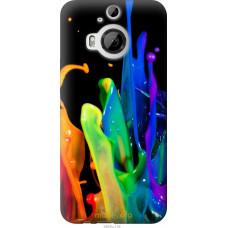 Чехол на HTC One M9 Plus брызги краски