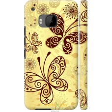 Чехол на HTC One M9 Рисованные бабочки