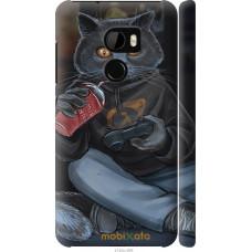 Чехол на HTC One X10 gamer cat