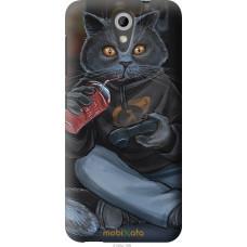 Чехол на HTC Desire 620G gamer cat