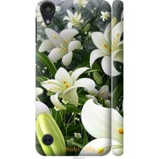 Чехол на HTC Desire 530 Лилии белые
