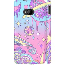 Чехол на HTC One M7 'Розовый космос