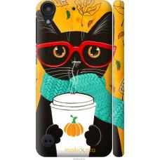 Чехол на HTC Desire 530 Осенний кот