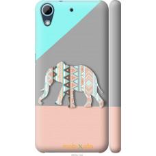 Чехол на HTC Desire 626G Узорчатый слон