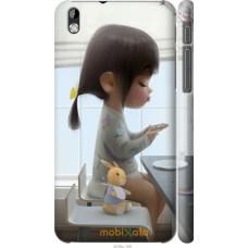 Чехол на HTC Desire 816 Милая девочка с зайчиком