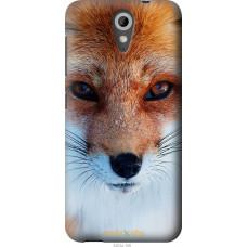 Чехол на HTC Desire 620 Рыжая лисица