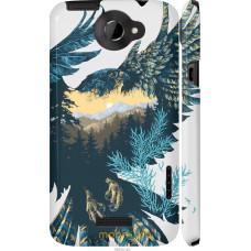 Чехол на HTC One X+ Арт-орел на фоне природы