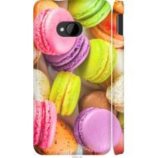 Чехол на HTC One M7 Вкусные макаруны