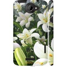 Чехол на HTC One X+ Лилии белые