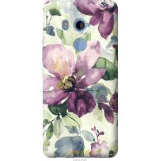 Чехол на HTC U11 Plus Акварель цветы