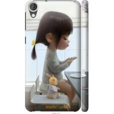 Чехол на HTC Desire 820 Милая девочка с зайчиком