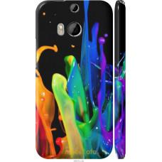 Чехол на HTC One M8 брызги краски