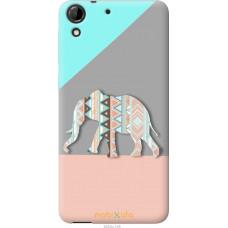 Чехол на HTC Desire 728G Узорчатый слон