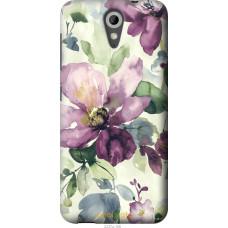 Чехол на HTC Desire 620G Акварель цветы