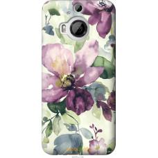 Чехол на HTC One M9 Plus Акварель цветы