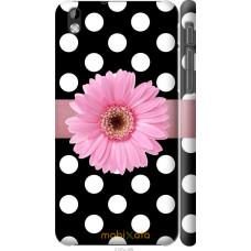 Чехол на HTC Desire 816 Цветочек горошек v2