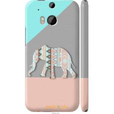 Чехол на HTC One M8 dual sim Узорчатый слон