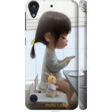 Чехол на HTC Desire 530 Милая девочка с зайчиком