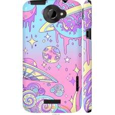 Чехол на HTC One X 'Розовый космос