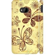 Чехол на HTC One M7 Рисованные бабочки