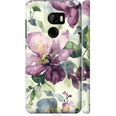 Чехол на HTC One X10 Акварель цветы