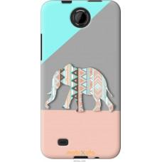 Чехол на HTC Desire 300 Узорчатый слон