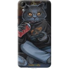 Чехол на HTC Desire 728G gamer cat