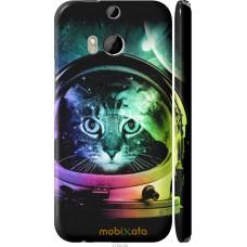 Чехол на HTC One M8 dual sim Кот космонавт