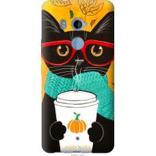 Чехол на HTC U11 Plus Осенний кот