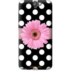 Чехол на HTC One A9 Цветочек горошек v2