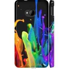 Чехол на HTC One M7 брызги краски