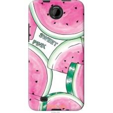 Чехол на HTC Desire 300 Розовый арбузик