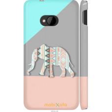 Чехол на HTC One M7 Узорчатый слон