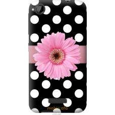 Чехол на HTC Desire 320 Цветочек горошек v2