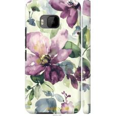 Чехол на HTC One M9 Акварель цветы