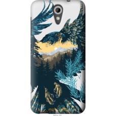 Чехол на HTC Desire 620G Арт-орел на фоне природы
