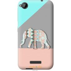 Чехол на HTC Desire 320 Узорчатый слон