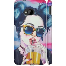 Чехол на HTC One M7 Стильная девушка