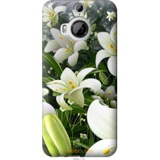 Чехол на HTC One M9 Plus Лилии белые