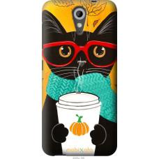 Чехол на HTC Desire 620G Осенний кот