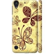 Чехол на HTC Desire 530 Рисованные бабочки