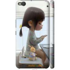 Чехол на HTC One X9 Милая девочка с зайчиком