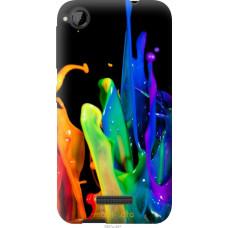 Чехол на HTC Desire 320 брызги краски