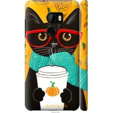 Чехол на HTC One X10 Осенний кот