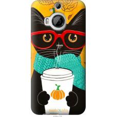 Чехол на HTC One M9 Plus Осенний кот