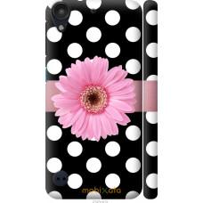 Чехол на HTC Desire 530 Цветочек горошек v2