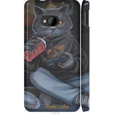 Чехол на HTC One M7 gamer cat