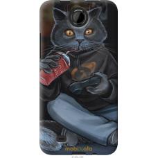 Чехол на HTC Desire 300 gamer cat