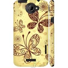 Чехол на HTC One X Рисованные бабочки